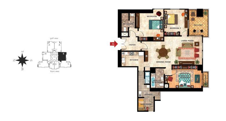 orchid 3bedroom b